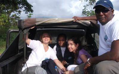 Voyage à l'arrière d'un camionnette en Colombie