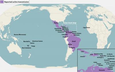 Carte du virus Zika
